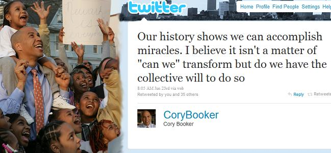 Cory Booker on Twitter