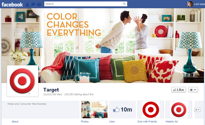 Target cover image in Facebook