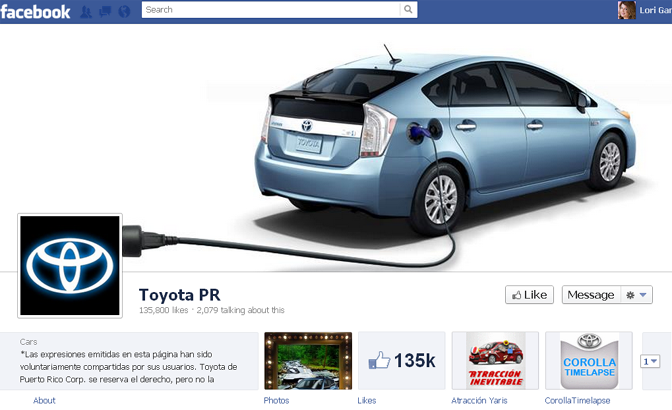 Toyota PR cover image in Facebook