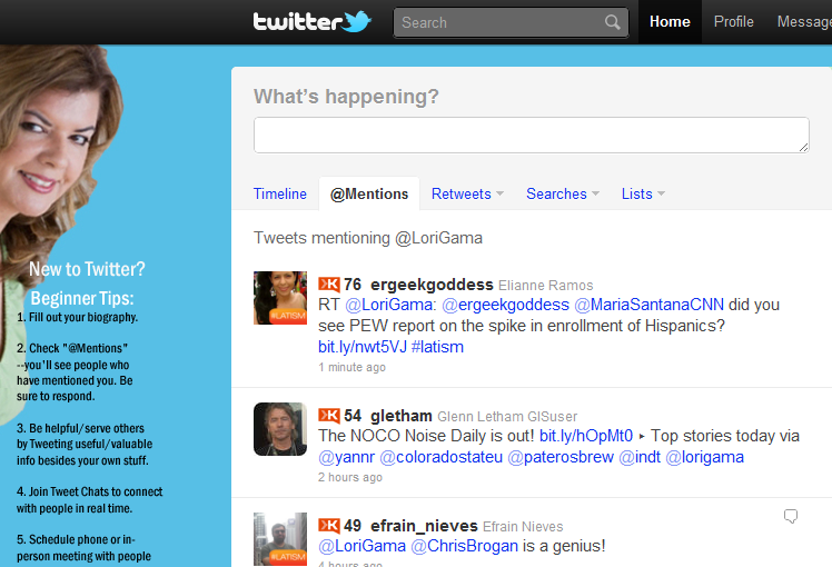 Be sure to use a custom Twitter background on your profile - use strategy in the design