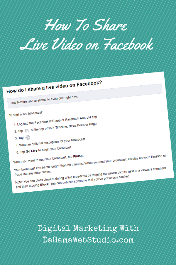 How to Share Live Video On Facebook